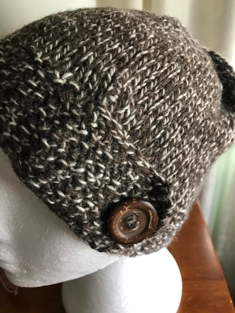 dfd5b4cd5b4 Australian Merino   Alpaca Handknitted Hat with Wood Button
