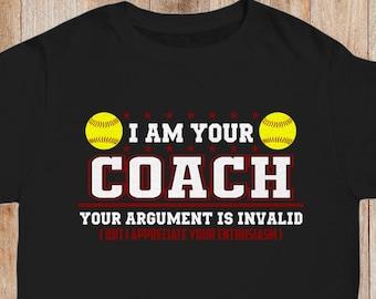 a4f7380e Funny Softball Coach Shirt   Head Coach T-Shirt   Assistant Coach Shirt    Pitching Tee   Coach Appreciation Gift   Coaching Staff Shirts