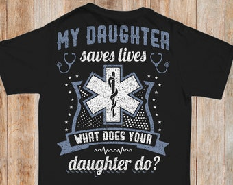 50aad6f5e EMT TShirt Emergency Medical Technician First Responder Tee Medical Shirt  Gift for Mom Dad