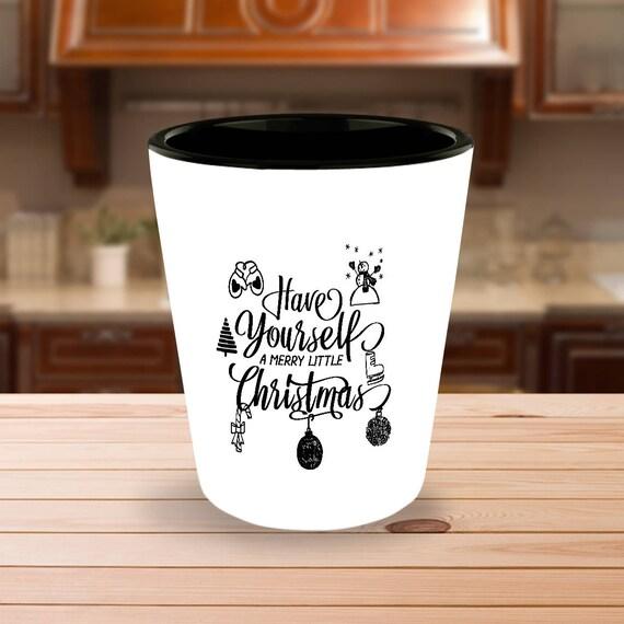 Weihnachten Partei Geschenk Jahrgang Weihnachten Schnapsglas | Etsy