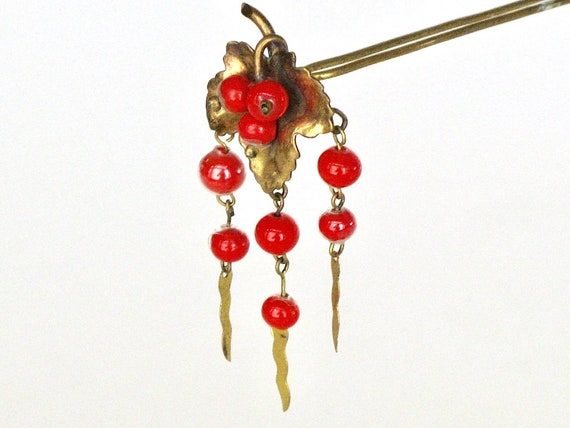 Victorian Algerian Style Hinged Hairpin, Antique H