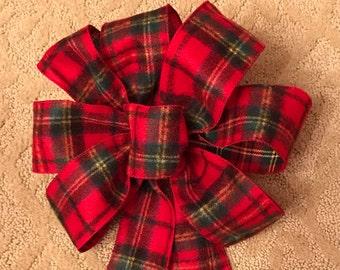 Plaid Flannel Christmas Bow