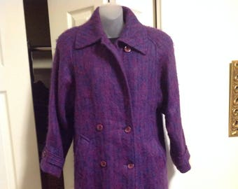 Vintage Bardolino Luxury Scottish Mohair Full Length Coat Hannah Collection Canada