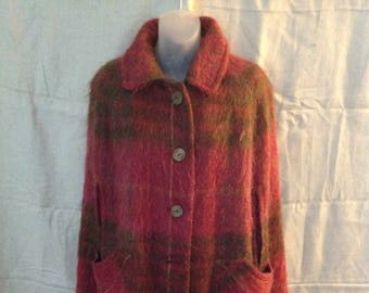 Vintage Andrew Stewart Mohair Wool Cape Full Length