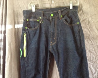 Levi's 505 Japanese Fenom Fractured Signs Disco Jeans W30/L25