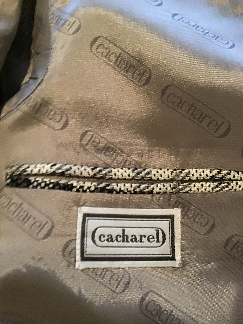 Vintage Cacharel Men\u2019s Jacket Paris BlackWhite Check 48