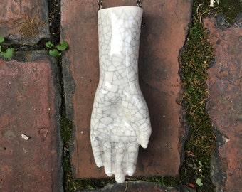 Porcelain Christmas Ornament | Doll Hand Ornament | Ceramic Wall Art | Doll Parts | White Christmas Decor | Antique Doll | Porcelain Hand