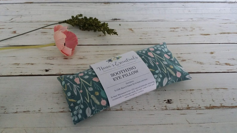 Eye Pillow Cotton Flax Seed - Yoga Tools Headache Help  -Aromatherapy-Removable Cover-Variety of Scents -Teacher Gift -Yoga  Gift-Relax