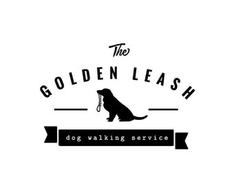 Dog Logo Design, Pet Accesories Logo, Dog Walking Business Logo, Dog Hipster Logo, Dog Leash Logo Design, Boutique Brand Logo, Pet Shop Logo