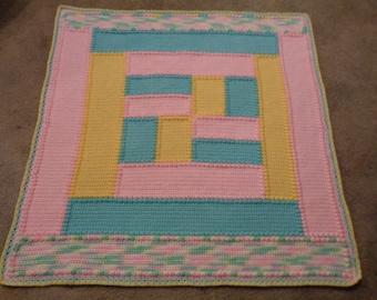 Handmade Textured Crochet Afghan,Baby Blanket, Throw