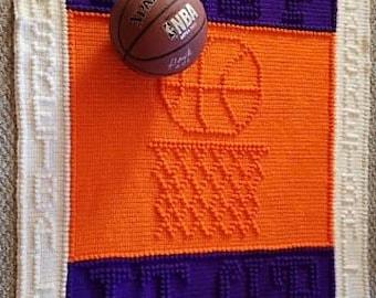 Pattern  crochet blanket Basketball  # 297
