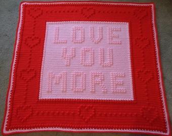 Handmade Textured Crochet Afghan ,Word Blanket,Baby Blanket,Throw