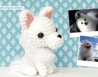 Custom Crochet Plush Dog, amigurumi for dog lover, custom pet dog portrait, dog lover gift, plush pet memorial, personalized dog gift