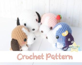 Crochet Beagle Dog Pattern, amigurumi stuffed animal pdf instructions, DIY small yarn toy, puppy plushie, make your own dogs, wonder wishes