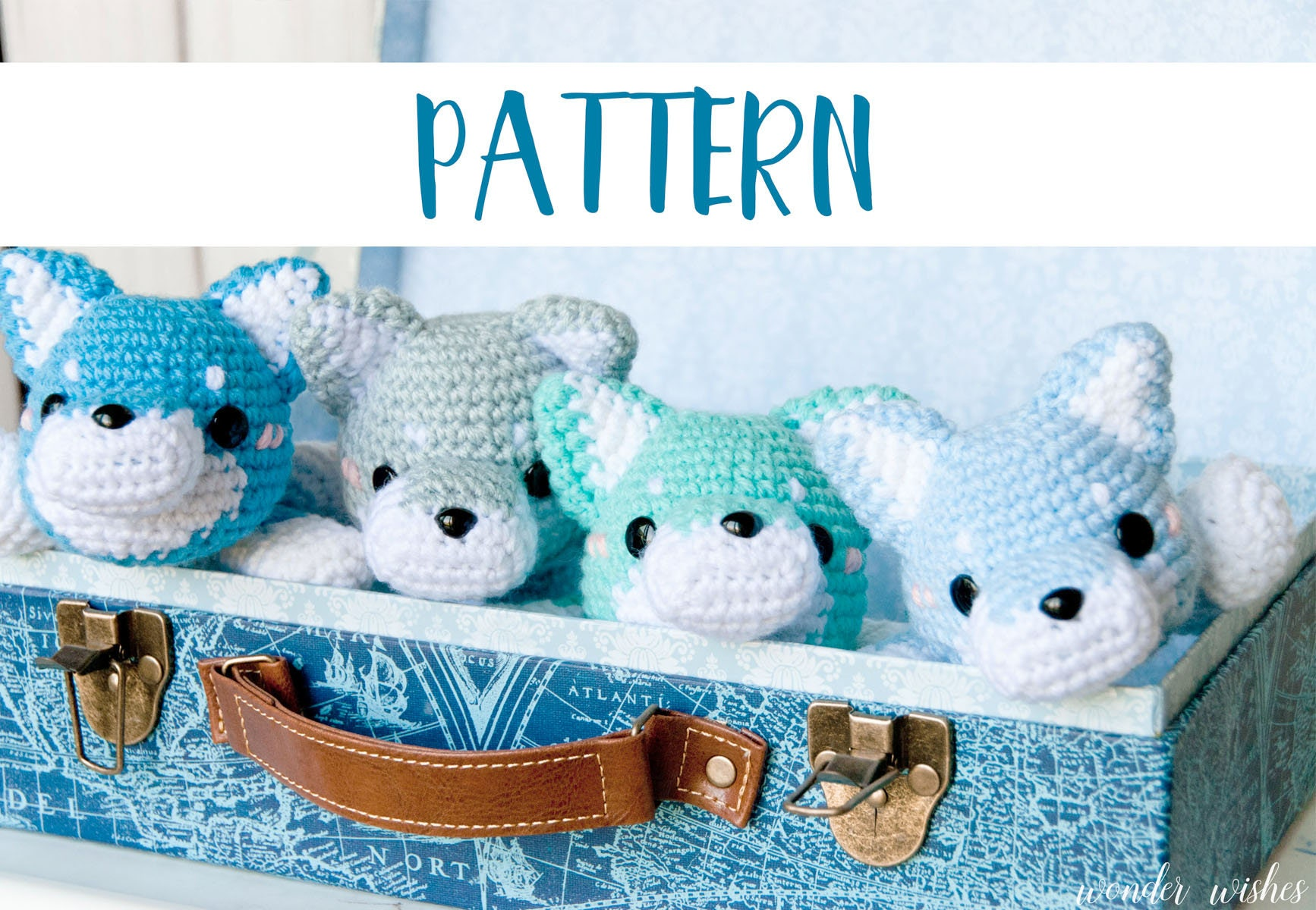 Amigurumi Wolf Crochet Pattern cute stuffed animal digital