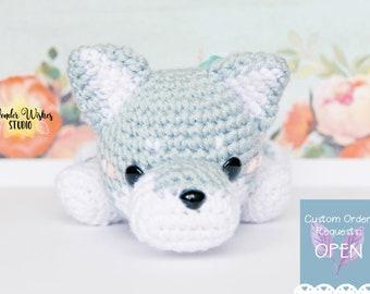 Wolf Amigurumi Stuffed Animal, crochet wolf doll, amigurumi wolf, cute small stuffed animal, wolf plushie, animal plushie, cute amigurumi