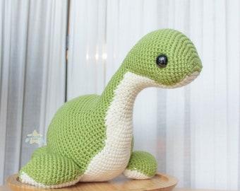 Nessie Amigurumi, kawaii Loch Ness Monster crochet plushie, fantasy mythical plush stuffed animal, cute cryptid plushies, handmade cute gift