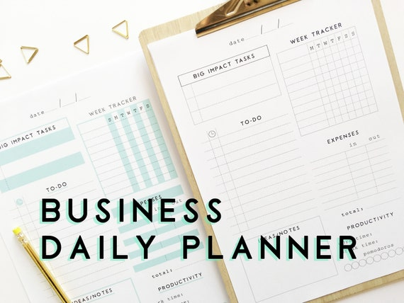 daily business planner office printable planner inserts etsy