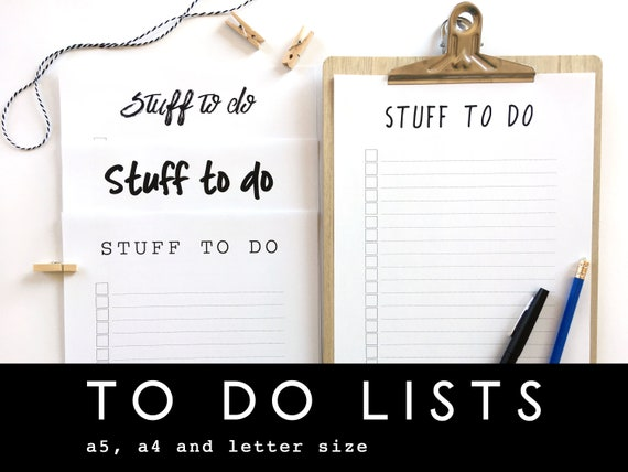 to do list planner inserts stationary custom printable to do etsy