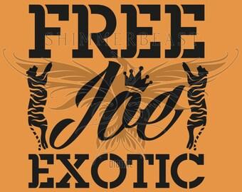 Joe Exotic Free Joe Tiger King Carol Svg Dxf Png Etsy
