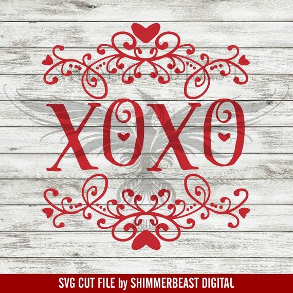 Valentine S Day Svg Cut File Xoxo Svg Valentine Svg Etsy