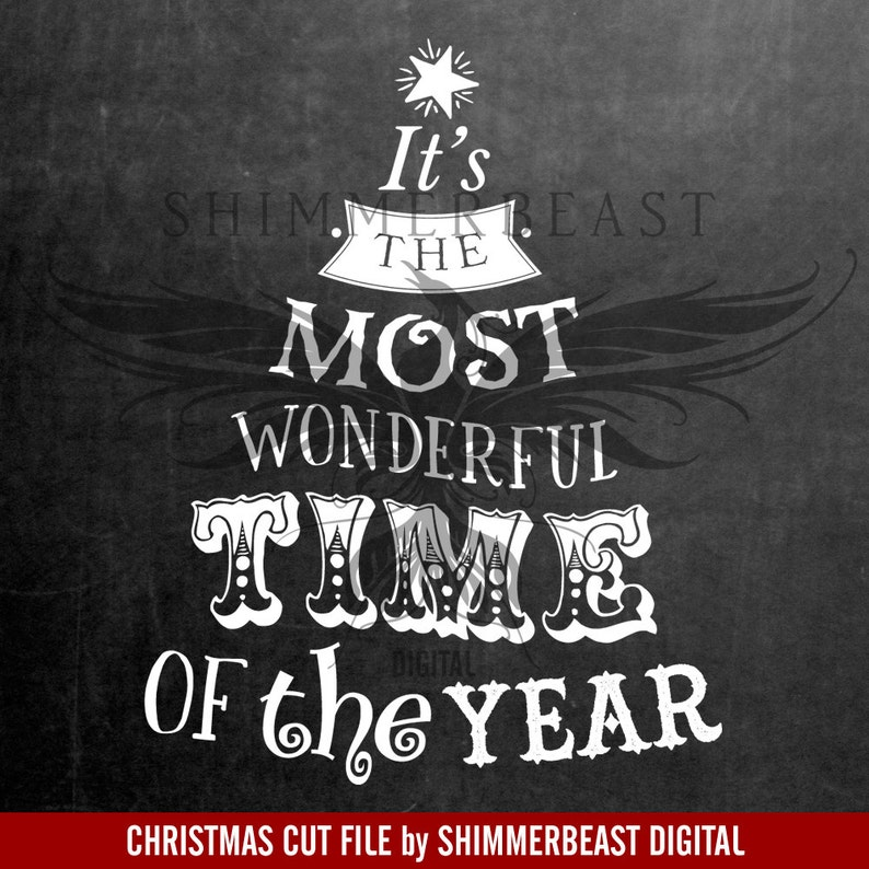 df989638 Christmas SVG Cut File It's the Most Wonderful Time of | Etsy