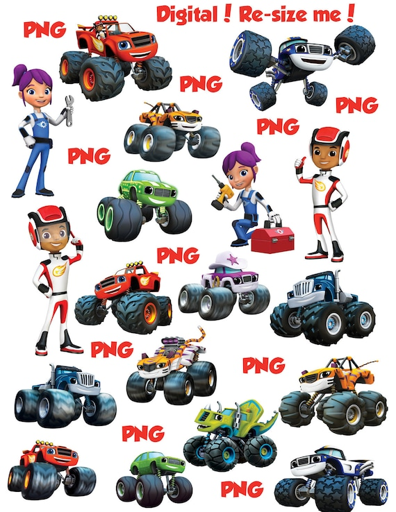 Blaze The Monster Machines Png Clipart Images Instant Etsy