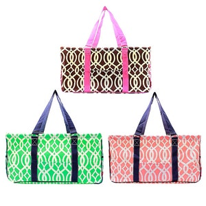 Extra Large Utility Tote Monogrammed Serape Pattern car organizer carryall tote great gift teacher bag summer tote beach bag
