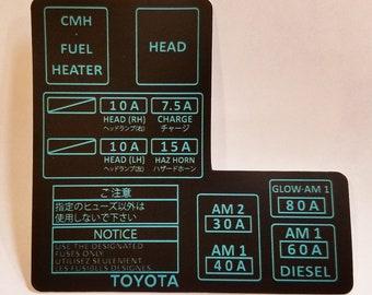 1986 toyota pickup fuse box wiring diagram yer