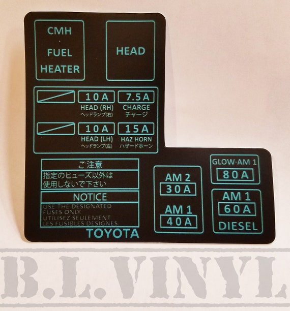 Toyota 3VZ-E-Inspired Vacuum Hose Information Decal