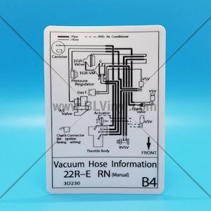 Mid 90s 22re Vacuum Hose Routing Diagram 1994 Manual Etsy