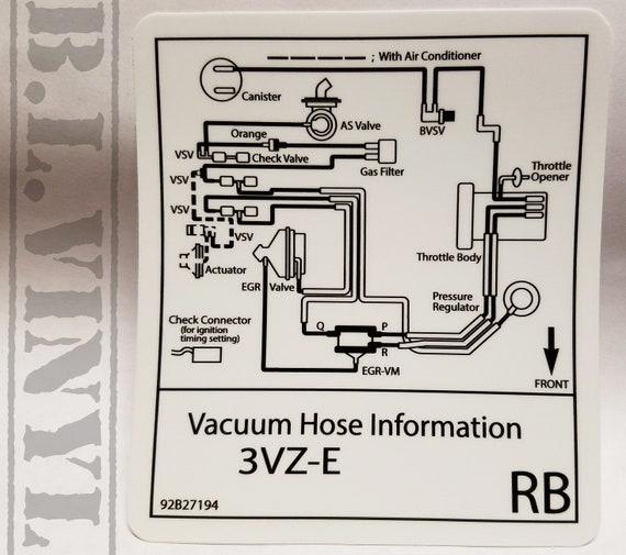 3vze vacuum line diagram 3 03vz einspired vacuum hose information etsy  3 03vz einspired vacuum hose
