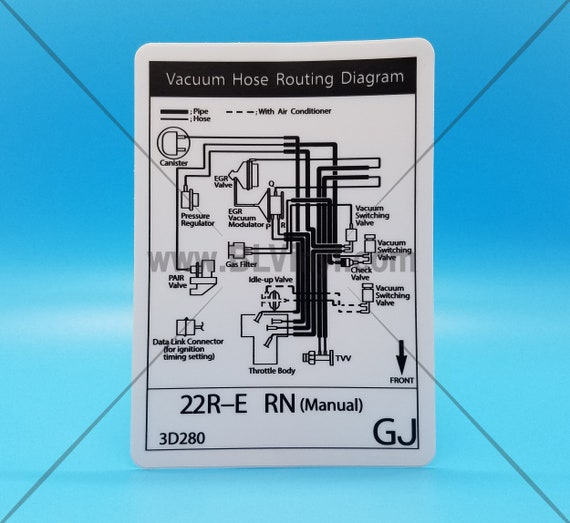 Mid-90s 22RE Vacuum Hose Routing Diagram 1994 Manual | EtsyEtsy