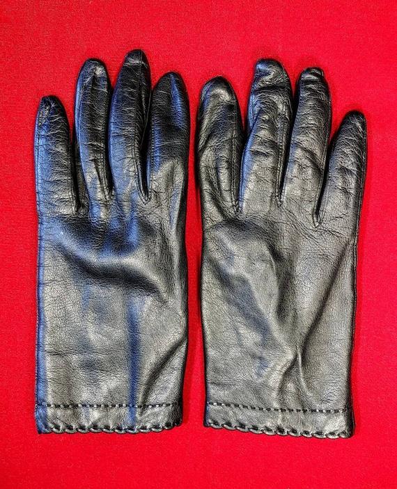 Vintage Black Kid Gloves ~ Size 8 ~ Italy