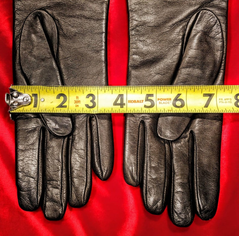 Saks Fifth Avenue Brown Leather Gloves ~ Size 7 12 ~ NIP