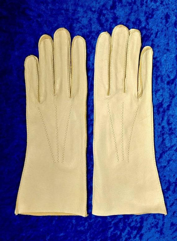 Vintage Mid-Western Deer Skin Leather Gloves ~ Siz