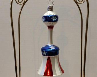 Christmas Ornament Liberty Bell Inge-glas Germany