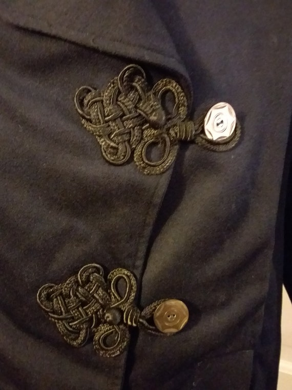 Victorian Navy Wool Jacket with Bustle Back Ca 19… - image 3