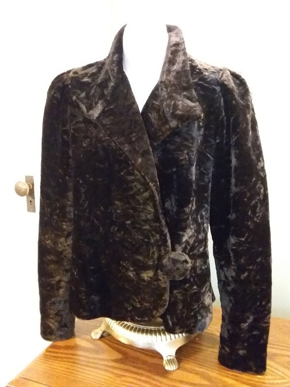 Victorian Jacket Bustle Back Ca 1900 Dark Brown O… - image 1