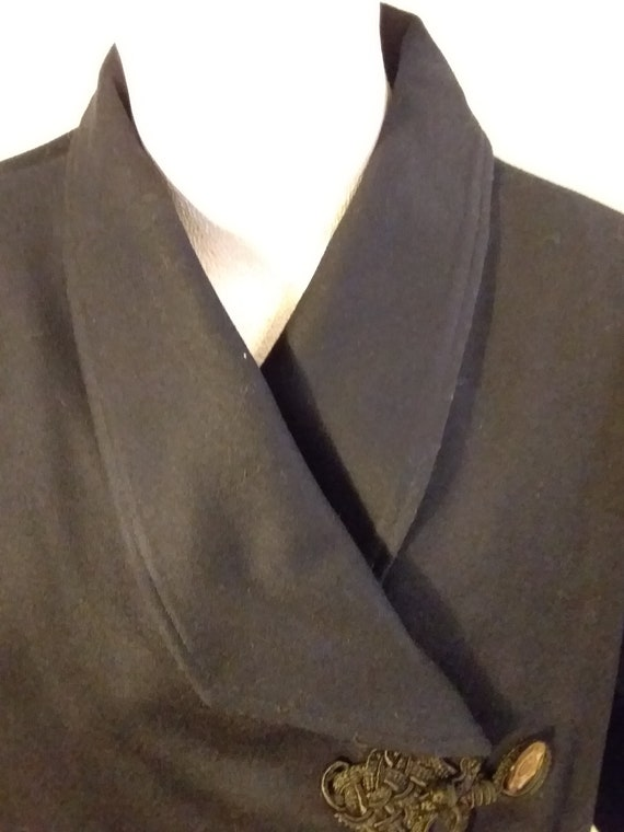 Victorian Navy Wool Jacket with Bustle Back Ca 19… - image 2
