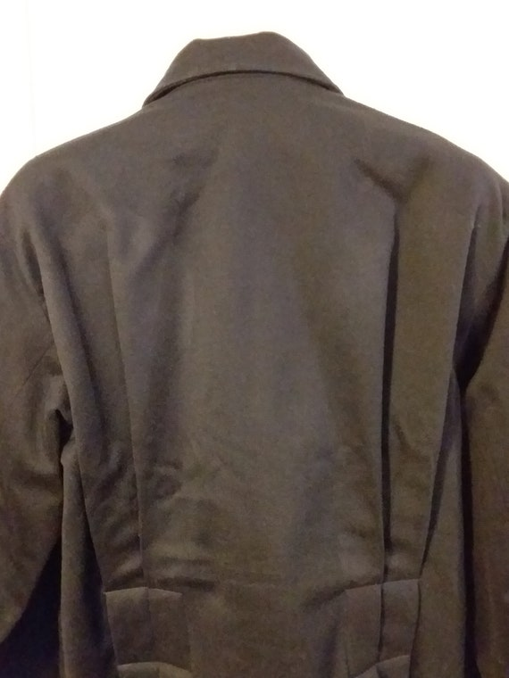 Victorian Navy Wool Jacket with Bustle Back Ca 19… - image 4