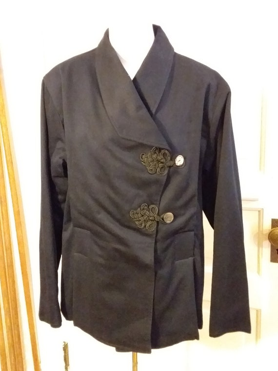 Victorian Navy Wool Jacket with Bustle Back Ca 19… - image 1