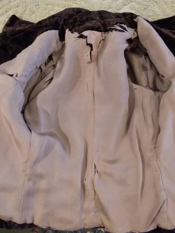 Victorian Jacket Bustle Back Ca 1900 Dark Brown O… - image 7