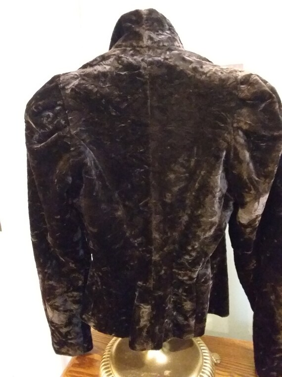 Victorian Jacket Bustle Back Ca 1900 Dark Brown O… - image 4