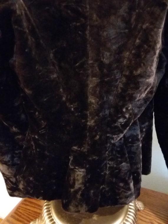 Victorian Jacket Bustle Back Ca 1900 Dark Brown O… - image 6