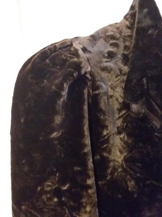 Victorian Jacket Bustle Back Ca 1900 Dark Brown O… - image 3
