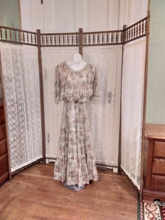 Edwardian Lawn Lingerie 2 Piece Dress Ca. 1915 Ros