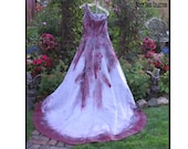 Vampire Costume Zombie Bride HALLOWEEN wedding dress, one-shoulder bridal gown, Size 12