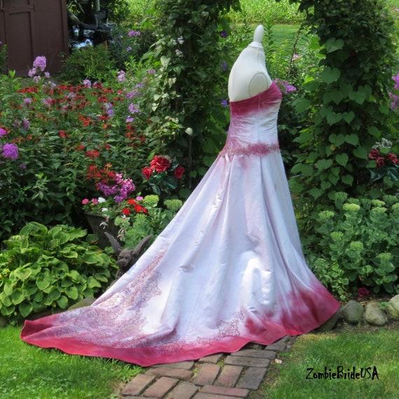 Bloody Bridal Gown Zombie Bride Of Frankenstein Halloween Etsy