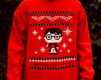 d147b9c2 Harry and the 8 Bit Ugly Christmas Sweater